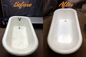 bathtube refinishing and repair before and after pictures